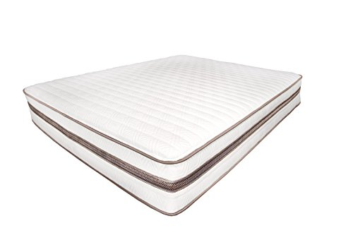 My Green Mattress Natural Escape - GOTS Organic Cotton, Natural Eco-Wool and GOLS Certified Organic Latex - Medium Firm Mattress (Queen) Made in the USA